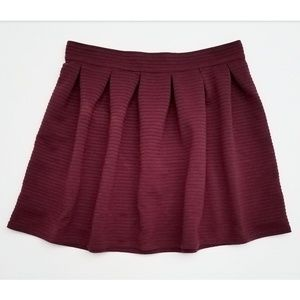 Bethany Mota Textured Pleated Skirt